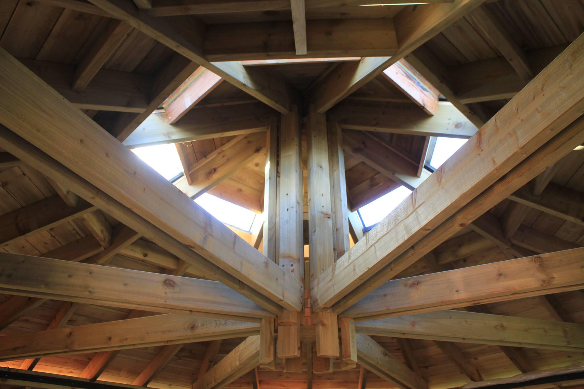 Internal Roof Detail of Octagonal Yurts
